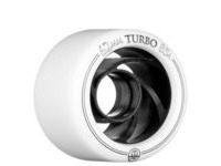 ROLLERBONES Derby Turbo Aluminum, White (8 Pack)