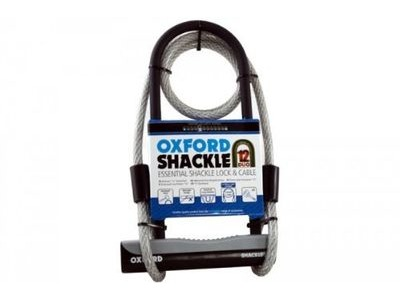 OXFORD Essential Shackle Lock and Cable