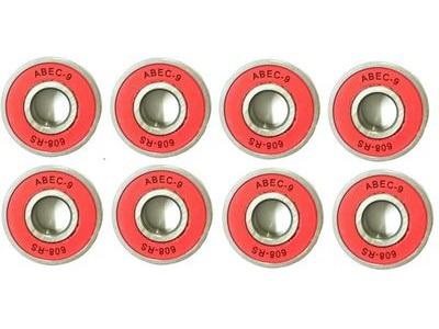 RDS ABEC 9 Red Bearings x 8