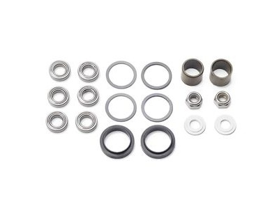 HT Components Pedal Rebuild Kit X-1 Pedals - Includes DU Bushes, End nuts, Bearings, Rubber seals