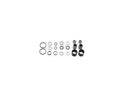HT Components Pedal Rebuild Kit X-2 Pedals - Includes DU Bushes, End nuts, Bearings, Rubber seals (Also fits AE-06, AE-12)