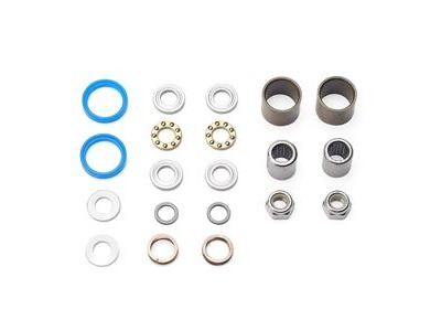 HT Components Pedal Rebuild Kit T-1 2017 on Pedals (Blue seals) - Includes, bearings, washers, end nuts, Orings