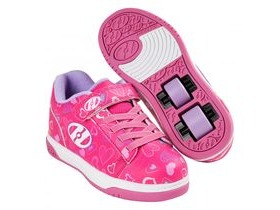 HEELYS Dual Up Hot Pink/White/Hearts