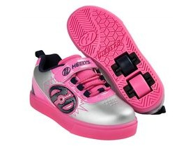 HEELYS POW Lighted Silver Pink Navy