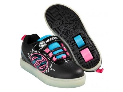 HEELYS POW Lighted Black/Neon Blue/Neon Pink