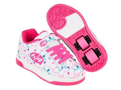 HEELYS Dual UP White/Pink/Multi