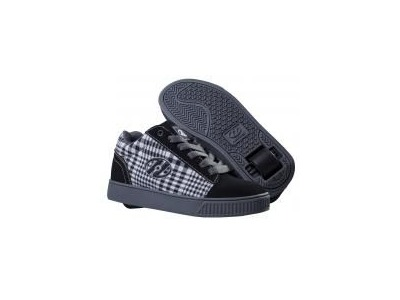 HEELYS Straight Up Black/Plaid/Charcoal/White