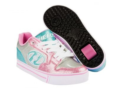 HEELYS Motion Plus Silver/Pink/Blue
