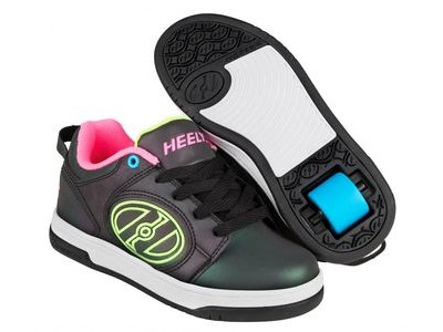 HEELYS Voyager Black Reflective/Yellow/Pink