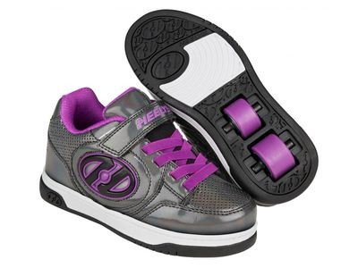 HEELYS Plus X2 Black Sparkle/Purple