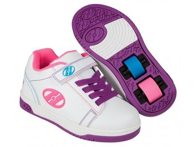 HEELYS Dual Up X2 White/Purple/Neon Multi