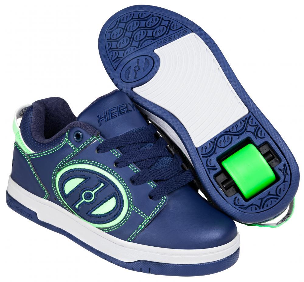 Children/'s Heelys Voyager Roller Shoe Navy//Bright Green
