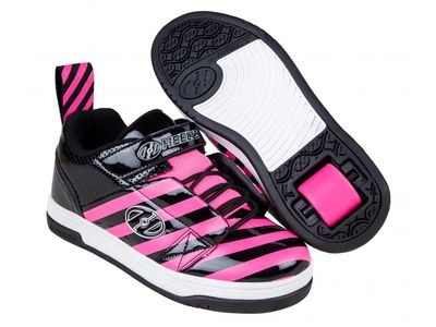 HEELYS Rift Black Hot Pink Stripe