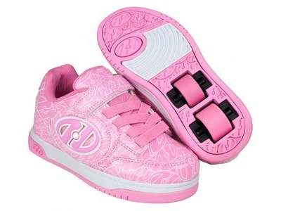 HEELYS Plus X2 Lighted, Pink Patent/White Logo