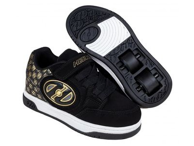 HEELYS Plus X2 Lighted, Black/Gold/Logo