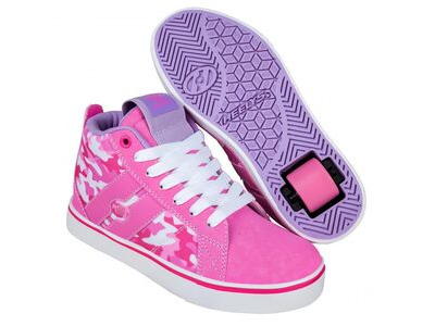HEELYS Racer Mid 20 Pink Hot Pink White Camo