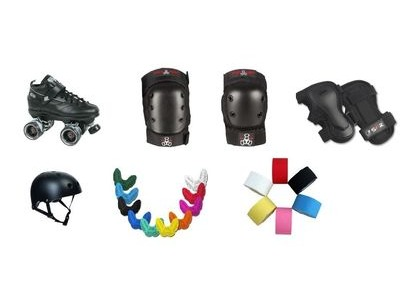 SURE GRIP Rock GT 50 Starter Pack with Triple 8 Pads & SISU Mouth Guard + Free Hockey Tape