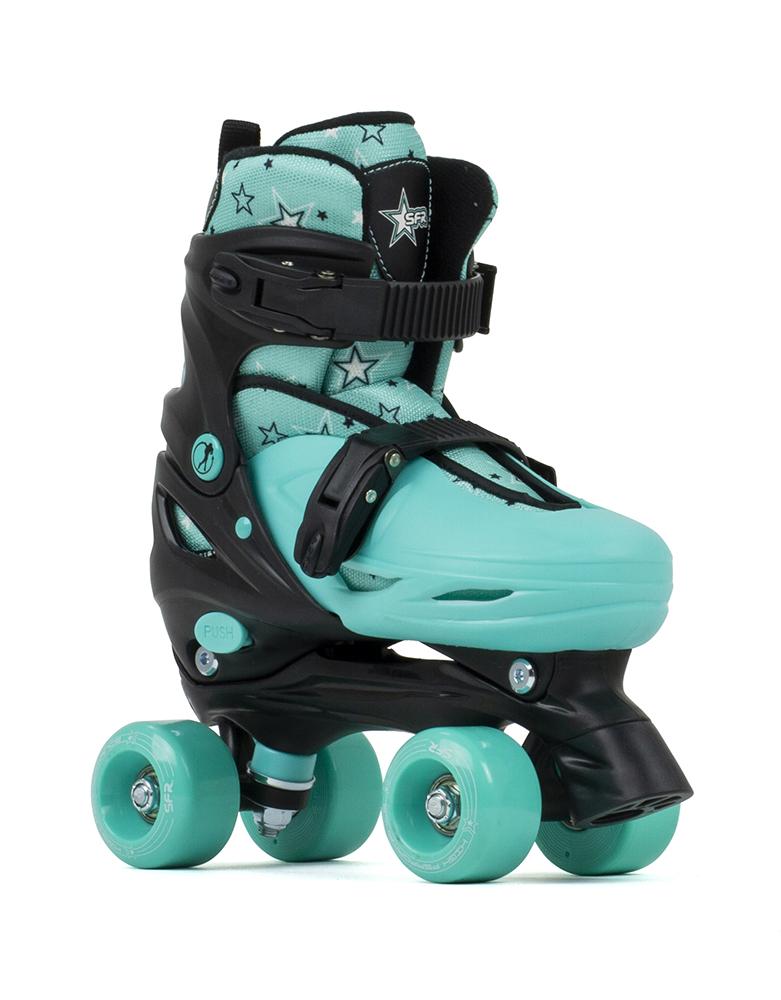 Black//Red SFR Nebula Adjustable Roller Skates