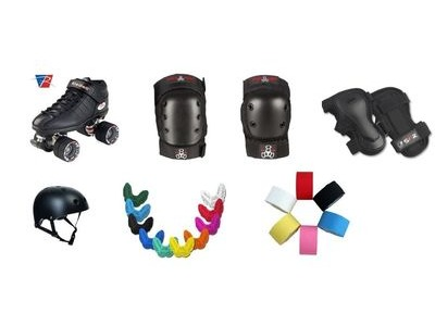 RIEDELL R3 Pack with Triple 8 Pads & SISU Mouth Guard + Free Hockey Tape!